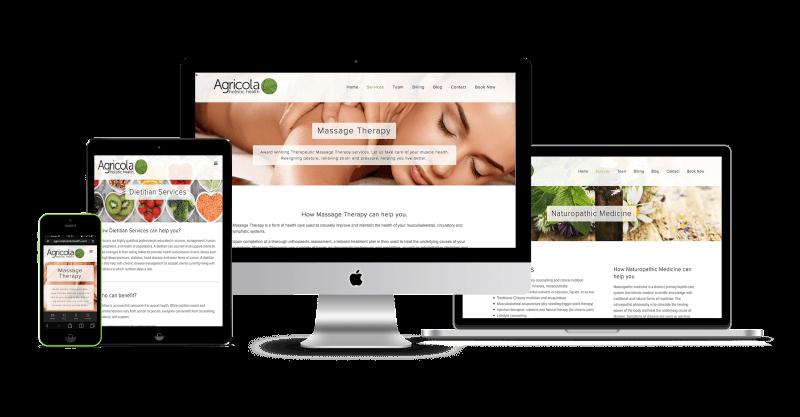 Agricola Holistic Health Responsive Website Design, Halifax, Nova Scotia