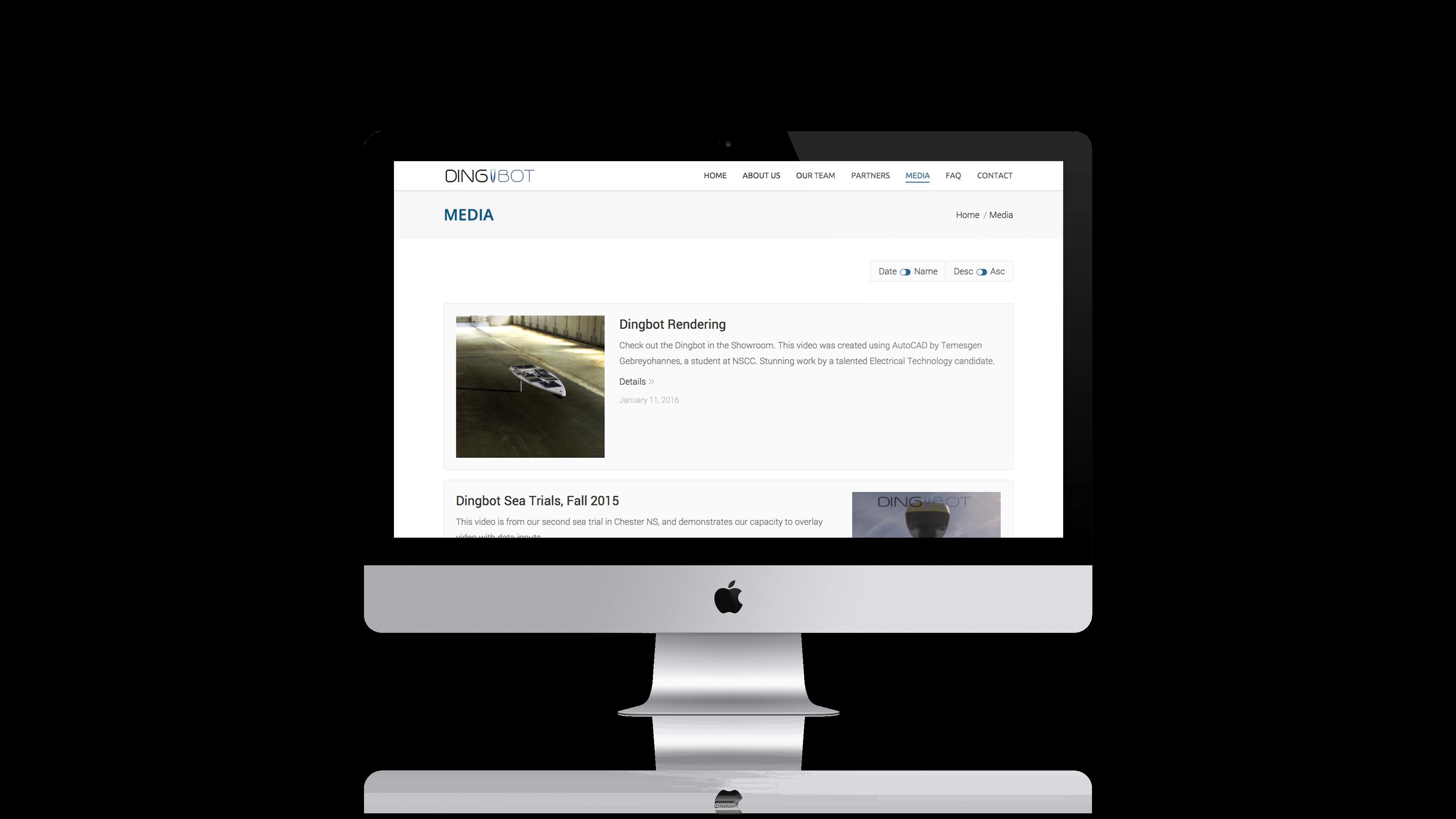 Dingbot Responsive Website Design by Pivot