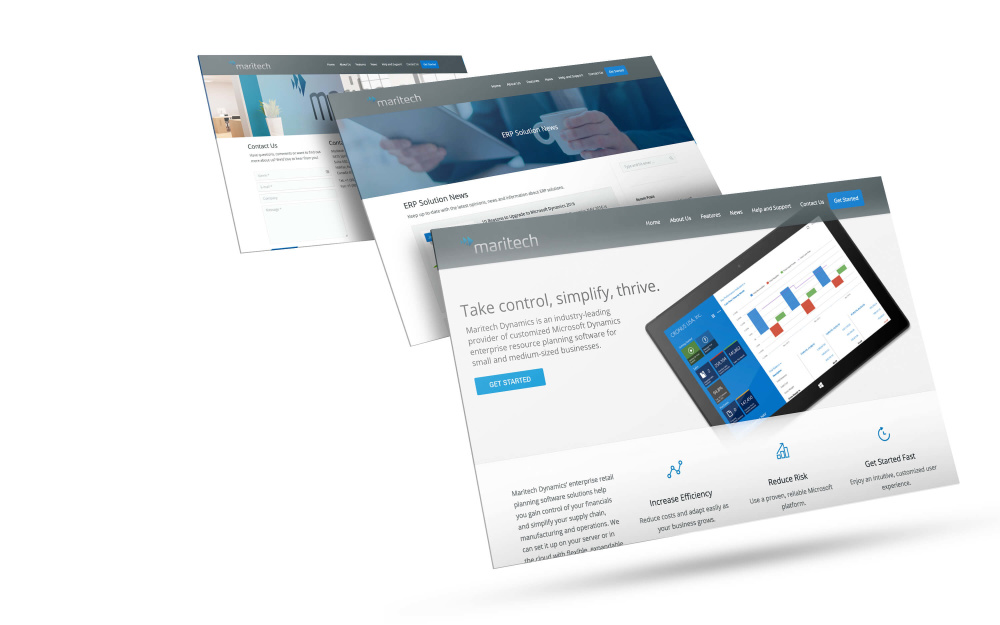 Microsoft Dynamics Partner Website Design